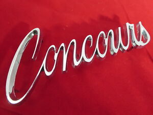 Nos 1968 Chevy Chevelle Concours Two Door Wagon Emblem Nameplate Badge Oem Gm