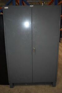 Durham Steel Heavy Duty Flush Door Style Storage Cabinet With Bins 48 X 78 X