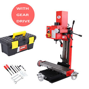 Mini Milling Drilling Machine With Gear Drive 550w Durable Variable Speed