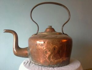 Very Large Super Quality Antique Copper Kettle