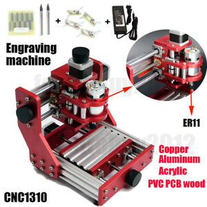 1310 Mini Cnc Router Metal Cutting Pcb Wood Milling Laser Machine Engraver Diy
