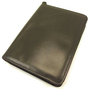 Day timer Black Leather Classic Size Folio Planner Daytimer Franklin Covey Pad