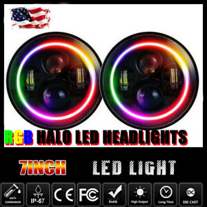 H4 Led Headlight With Color Changing Halos For 1990 1997 Mazda Miata Mx5 1998
