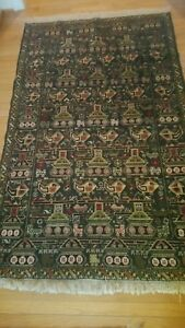 Afghan Vintage War Rug In Excellent Condition 6 9 X 3 10