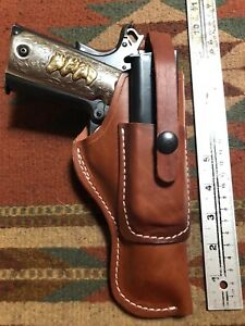 FIT Colt Kimber Citadel RIA ATI STI Model 1911 Leather Field Holster w Mag Pouch