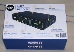 New Halo Bolt Portable Car Truck Suv Jump Start Phone Tablet Laptop Charger