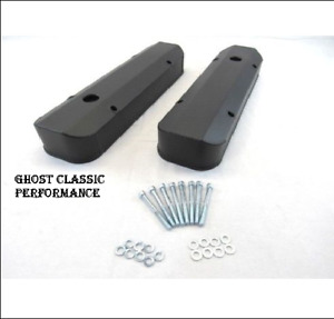 Pontiac 326 455 Fabricated Valve Cover Black W Hole Black Powder Coated Sharp