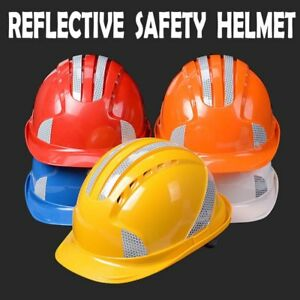 Abs Safety Helmets With 3m Reflective Stickers Work Cap Abs Insulation Material