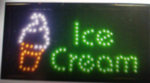 Ice Cream Neon Led Sign store Sign cold Drink Shop Sign business Sign