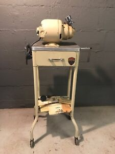 Gomco Aspirator Industrial Stand Table Dental Dentist Medial Equipment Steampunk