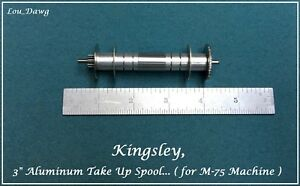 Kingsley Machine 3 inch Aluminum Take Up Spool Hot Foil Stamping Machine