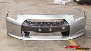 09 10 Nissan R35 Gtr Oem Abs Front Bumper Bar Cover Silver