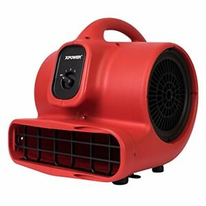 Xpower 1 3 Hp Air Mover Carpet Dryer Floor Fan Blower Dry Flood Red