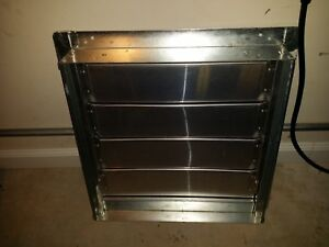 19 X 19 Hvac Backdraft Damper Wall Vent Exhaust Vent With Frame