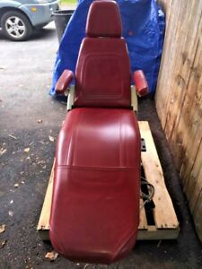 Belmont Dental Chair 035 025 027 037 For Parts Only Burgundy Color