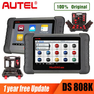 Autel Maxidas Ds808k Obd2 Scanner Diagnostic Code Reader Full Set Kit Adapter Us