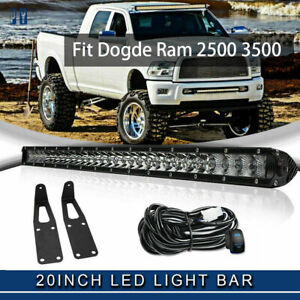 20 21 Led Light Bar Fit Dodge Ram 2500 3500 wiring bumper Mounting Bracket
