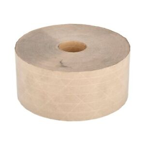 Brown Gummed Tape 3 X 450 Reinforced Heavy Grade Water Activated 100 Rolls