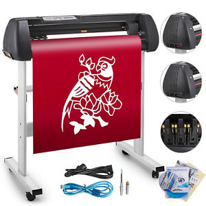 34 Vinyl Cutting Plotter Sign Cutter Printer Sticker Led Display 3 Blades