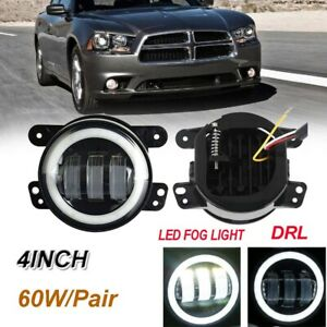 Pair 30w 4 Inch Led Driving Fog Light Bumper Lamps 6000k For Jeep Jk Dodge