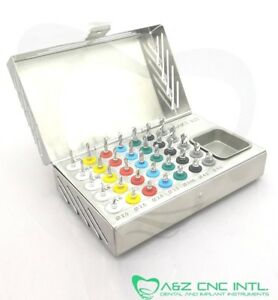 Dental Implant Surgical Drills With Stopper Kit 35 Pcs Stoppers Drills