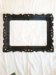 Ornate Detailed Gesso Wood Vintage 24 75 X 19 Picture Frame Fits 20x14 Project