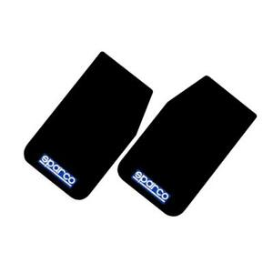 Sparco Universal Front Rear Set Mud Flaps Guards 2 Pairs Black 11 X18 5