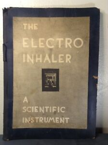 Electro Inhaler Scientific Instrument Huge Sales Patent Presentation Book 1934