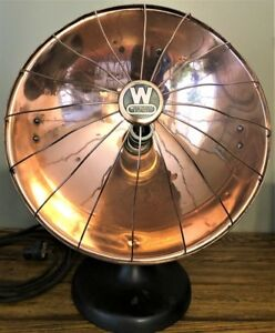 Rare Vintage Westinghouse Electric Cozy Glow Copper Heater W Guard Restored