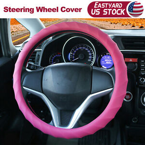 15 16 Car Steering Wheel Cover Pink Top Cap Protector Topper Silicone Us