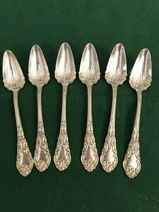 Holmes Edwards 1895 Lincoln Antique Teaspoons 5 3 4 Set Of 6