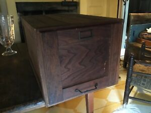 Antique 1 Of 2 Drawer Wood File Cabinet Stackable