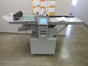 Used Graphic Whizard Ikf Pt 370 Independent Knife Folding Machine