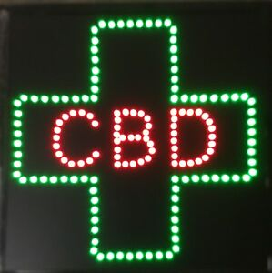Cbd For Business Led Neon Sign smoke Shop window Store Sign Display 20 X 20
