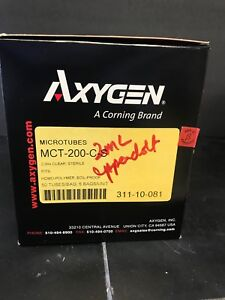 Box Of 250 Axygen 2ml Sterile Clear Microcentrifuge Tubes Mct 200 cs16 Boxes