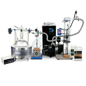 Usa Lab Premium 5000ml 5l Short Path Distillation Turnkey Kit Usa Made Glass