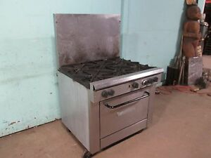 southbend X336d Commercial Heavy Duty nsf Natural Gas 6 Burners Stove W oven