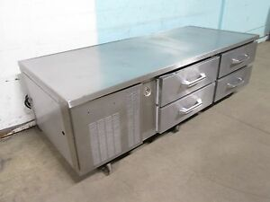 victory H d commercial S s 77 w Refrigerated 4 Drawers Chef base W casters