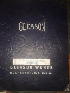 Gleason No 7 Spiral Bevel Cutter Sharpener Instructions