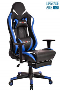 Ficmax Blue Gaming Chair High back Ergonomic Computer Chair Racing Gaming Chair