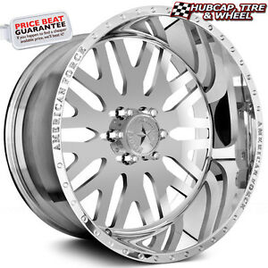 American Force Evo Ss6 Mirror Polish 22 x12 Custom Wheels Rims 6 Lug set Of 4