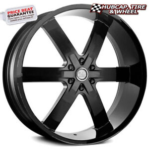 U2 55s b Solid Black 24 x10 Custom Wheels Rims set Of 4 Free Shipping