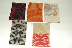 Antique Coverlet Pieces For Pillows Appliques Valentine Hearts Easter Eggs F2