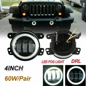 Pair 4inch 30w Led Fog Lights Driving Lamps For 07 16 Jeep Wrangler Jk Dodge