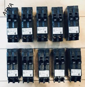 10 Pcs Murray Crouse hinds Mp2020n Circuit Breaker 20a 2 1pole New