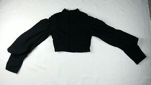 Antique Victorian Era 1800 S Black Embroiderd Mourning Jacket Top Size Xs