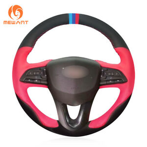 Top Customized Black Red Leather Car Steering Wheel Cover For Cadillac Xt4 2019