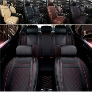 Universal Pu Leather Car Seat Cover Protector Front Rear Seat Cushion Mat