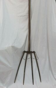 Shaker Wooden Four Tined Pitchfork 80 Total Length All Original Wood