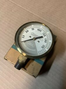Vintage Linde Oxweld Union Carbide 0 200 Psi Regulator Pressure Gauge Oxygen